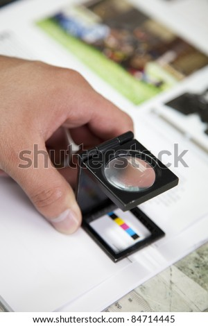 Press color management - stock photo