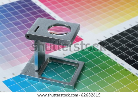 Press color management - print - stock photo