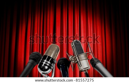 Press conference - stock photo
