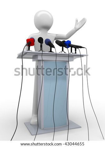 Press conference (mass media series) - stock photo