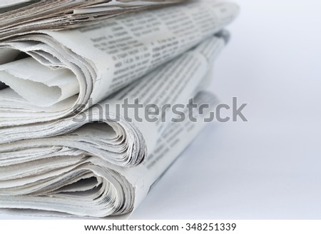 Press newspaper  - stock photo