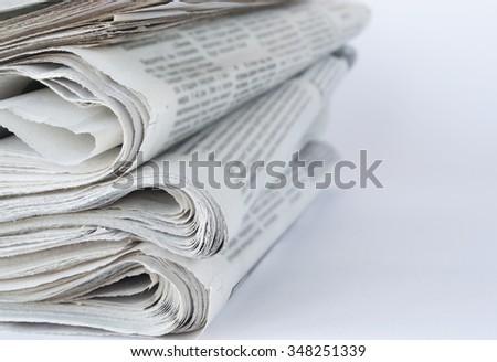 Press newspaper  - stock photo