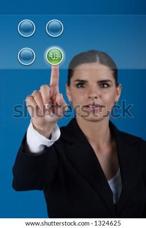 Press the help key - stock photo