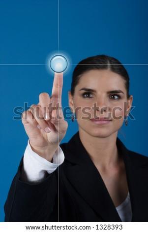 Press the key - stock photo