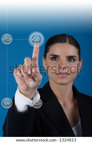 Press the vision key - stock photo