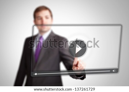 press video play button
