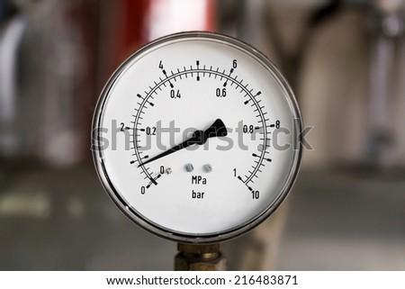 Pressure gauge - stock photo