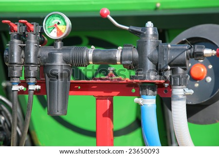 Pressure gauge manometer - stock photo