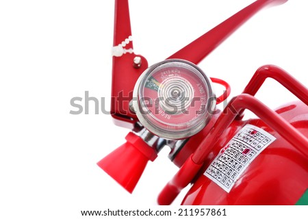 pressure gauge of fire extinguishers - stock photo