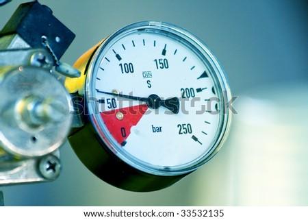 Pressure meter - stock photo