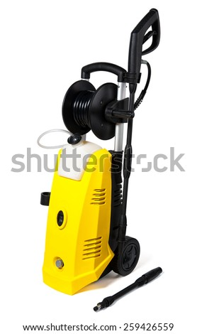 Pressure washer on white background - stock photo