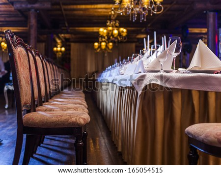 Prestigious banquet hall. - stock photo
