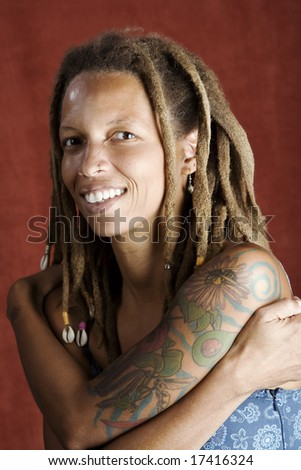 african american man with dreadlocks hairstyle stock photo 52060831