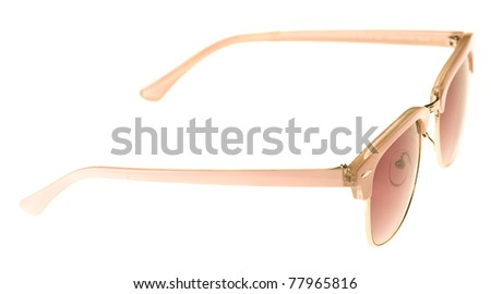 pretty and shiny sunglasses isolated on a white background