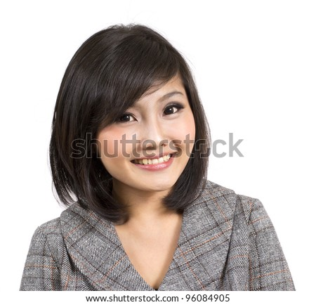 pretty attractive young business woman - stock photo