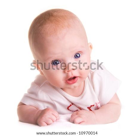 Pretty baby girl - stock photo
