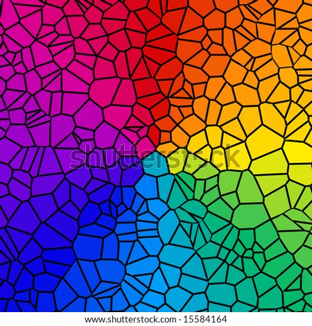 Pretty background of rainbow colored tiles.