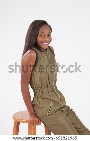Beautiful African American Haitian Teen Girl Stock Photo