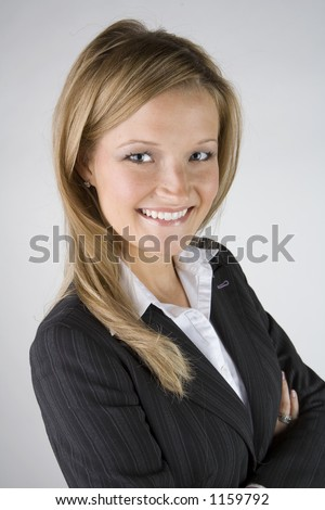 Pretty business woman - stock photo