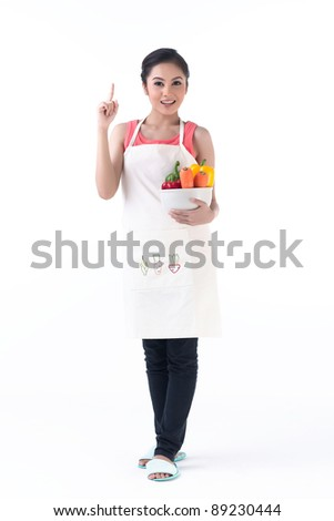 Pretty business woman calls with headset - stock photo