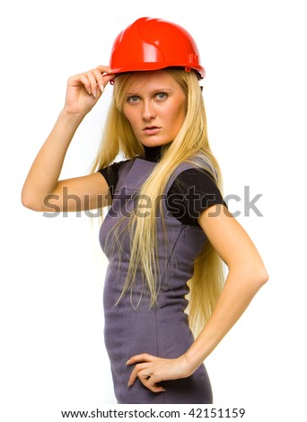 Pretty construction worker