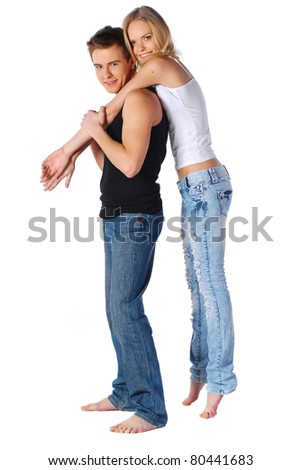 Pretty couple - stock photo