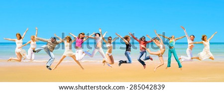 Pretty Dancers Flying Beauties  - stock photo
