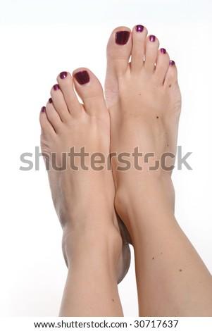 Pretty female feet - stock photo
