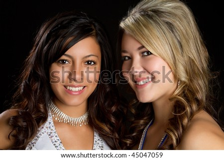 Pretty Friends - stock photo