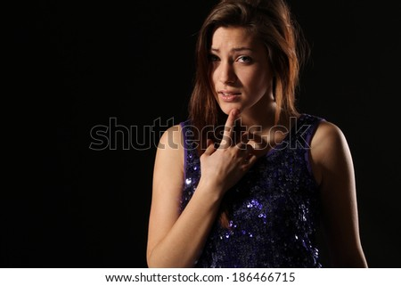 pretty girl in the discotheque - stock photo