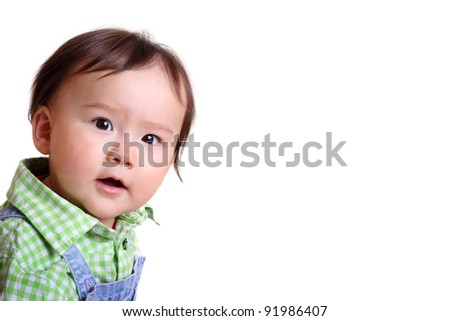 Pretty girl looking at the camera - stock photo