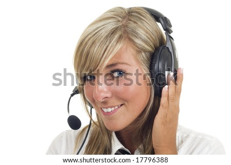 Pretty girl with headset