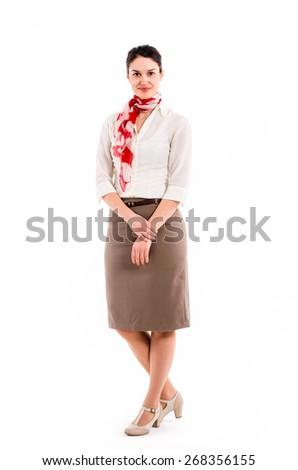 Pretty hostess - stock photo