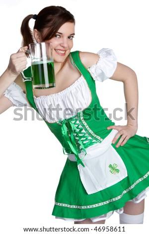 Pretty Irish Girl - stock photo