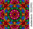 Pretty kaleidoscope in rainbow colors. - stock photo