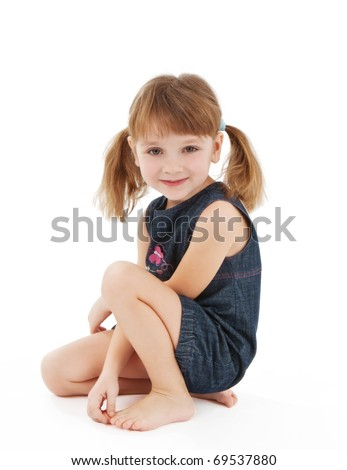 Pretty little girl - stock photo