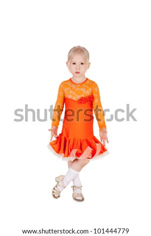 pretty little girl in the ball dress