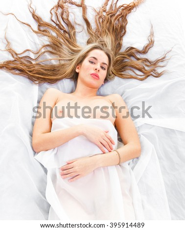 Pretty Nude Naked Body  - stock photo