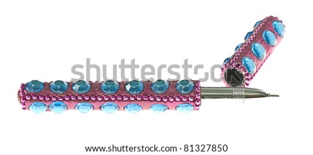pretty pen isolated on a white background