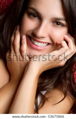 Pretty smiling teen girl - stock photo
