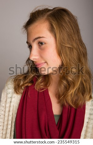 Pretty teenage girl - stock photo