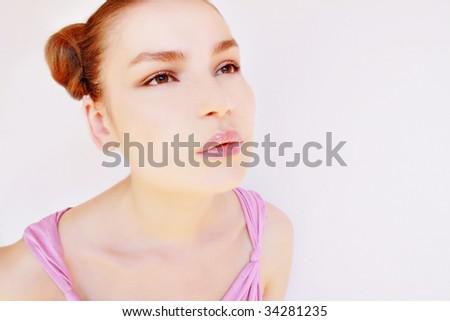 Pale skin teen