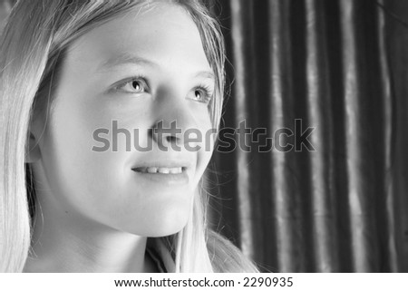 pretty teenager - stock photo