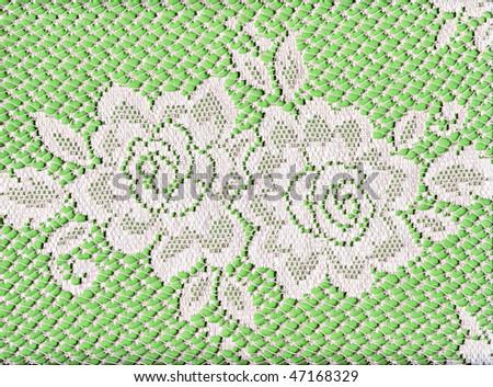 Pretty White Lace Roses - stock photo