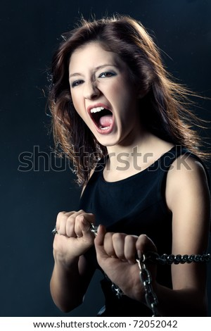 pretty woman anger face