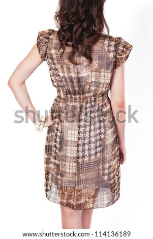Pretty woman,Fasion style portrait of young woman asia isolated