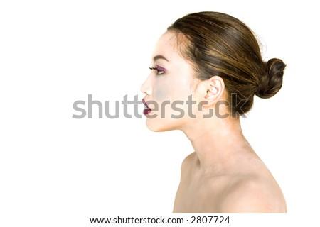 Pretty woman hair style - stock photo