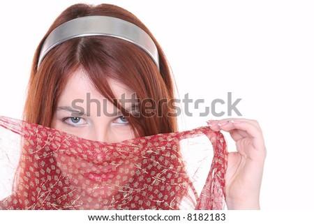 pretty woman in arabic style - stock photo