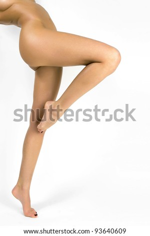 Pretty woman legs. - stock photo