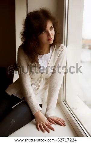 Pretty Woman Portrait - stock photo